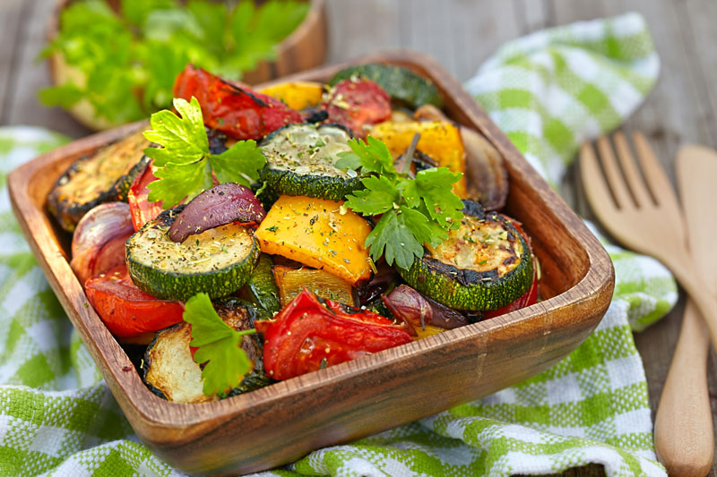 Recipe Of The Month – Roasted vegetables with hummus