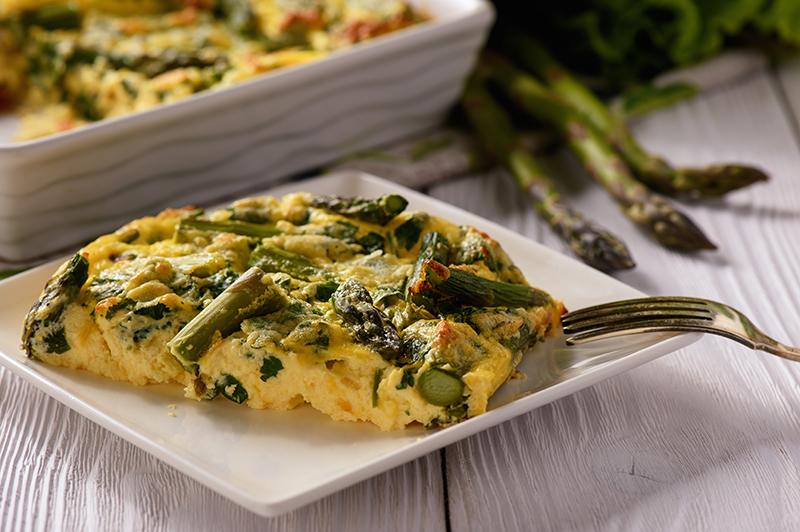 Asparagus, Broad Bean and Mint Frittata
