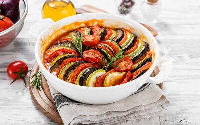 Aubergine, Courgette and Tomato Gratin